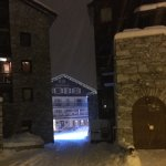 La Galise hotel in the snow