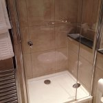 Separate shower and tub areas