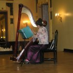Exquisite harp playing