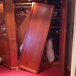Continued from my review photo of wardrobe door that came off and hit my husband on the head.