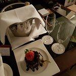 Birthday cake & champagne!
