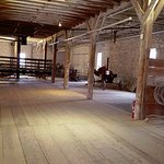 Inside the first floor of the barn.