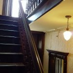 The staircase in the house is beautiful!