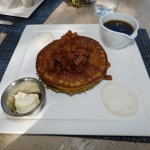 Quinoa Almond Pancakes (Sweet Ricotta, Apple Chutney, and Granola)