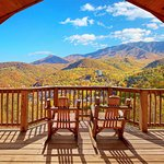 Enjoy relaxing on your covered deck with amazing mountain views.