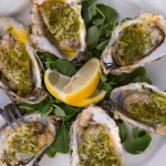 Broiled Oysters: parmesan & herbed crust