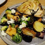 butter basted cabbage and winter vegetables