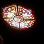 one of many gorgeous stained glass lights