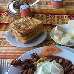 An Ecuadorean breakfast