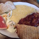 Pastrami Hash and grits