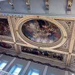 The famous painted ceiling