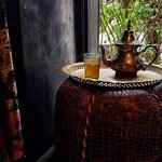 Traditional Moroccan tea in the State of Grace Suite