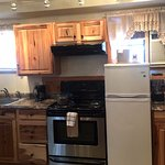 Western King Suite Kitchenette at Alpine Trail Ridge Inn