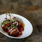 Bacon Wtapped BBQ Meatballs