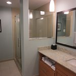 Spacious bathroom, large walk-in shower