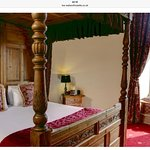 The king James suite bedroom. It's round