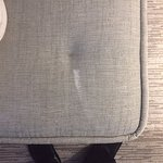 visible white stain upon arrival to room