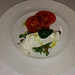 Our starter with fantastic tomatoes