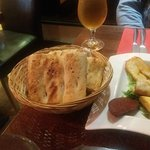 Bread served with starter