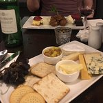 Cheese plate and Trio of Deserts..... Perfect!