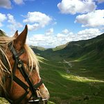 A view into the Langdale Valley on one of our Trail Rides