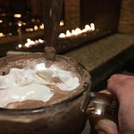Hot cocoa by fire