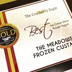 "Voted ""Best Ice Cream"" in Cranberry 2017 for the 4th year in a row!"