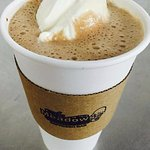Hot Chocolate Float: Rich hot chocolate with a scoop of vanilla custard