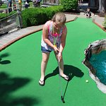 Mini Golf on Hole One at Pirate's Cove Adventure Golf