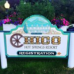 Chico Hot Springs Resort Sign at the entrance