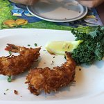 The huge Coconut Shrimp appetizer (whats left!!!!)