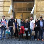 February in Rome, sunny weather and happy costumers with our guide Federica