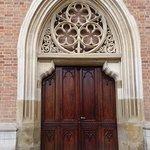 Door to church
