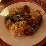 The Aneka Ricetafel on a plate