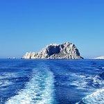 Dall'imbarcazione e sulla sua scia, bellissimo paesaggio.