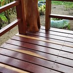 Love this wood on our deck