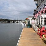 On RB's dock looking toward the bridge at Shem Creek
