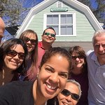 Couple's Retreat! Saying goodbye to our awesome innkeepers, Richard and his lovely wife.