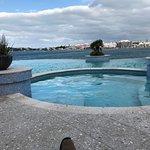 Jacuzzi beside pool