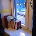 Books in the window sill...