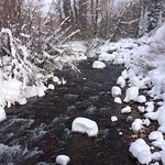 The Weber River passes through the Stillman Ranch. It was pristine after a big snow storm.