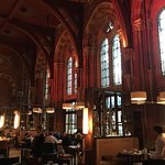 One of the great restaurants at the St. Pancras.