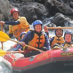 Rangitkei River rafting. The lodge is located on the river.