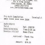 I scanned the receipt to verify the date and location