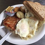 Pork Chop & Eggs - Lei Petite Bakery & Coffee Shop, Princeville HI