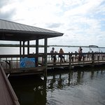 J.B.'s dock, tie up your boat, look at fish, take your beverages to the dock...This is Florida !
