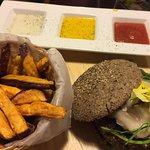 Quinoa burger with gluten free bun