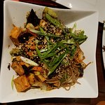 tofu stir fry with soba noodle