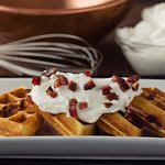 Bacon + Maple + Waffles = a breakfast you won't find anywhere else and won't soon forget.