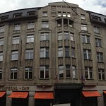 Street view of Hotel Art Deco Prague